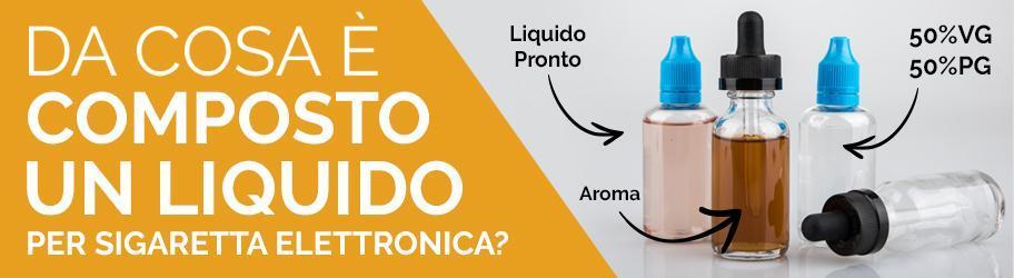 Composizione di un liquido per sigaretta elettronica