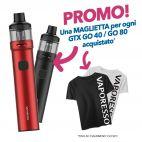 Vaporesso GTX GO 40 Kit o Vaporesso GTX GO 80 Kit + T-Shirt OMAGGIO