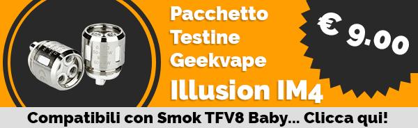 GeekVape Illusion Mini e Shield Pacchetto Testine di Ricambio