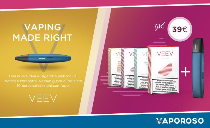 Nuova Offerta VEEV in bundle con i nuovi aromi!! Li trovi su Vaporoso.it!
