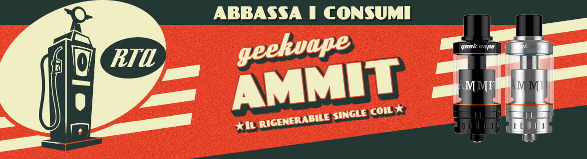 GeekVape AMMIT RTA sigaretta elettronica
