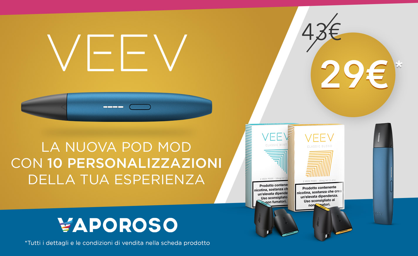 VEEV Flavour Kit + 2 Confezioni di VEEV Pod