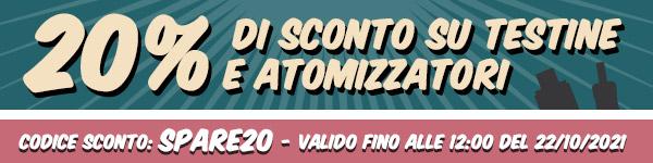 20% di SCONTO su Atomizzatori e Testine - su Vaporoso.it